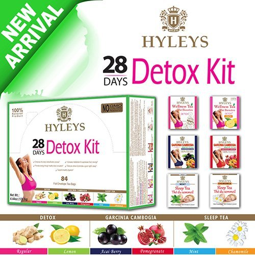 Hyleys 100 Natural 28 Day Detox Kit Detox Slim Sleep Tea Set