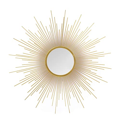 Buy Adeco Accent Gold Sunburst Wall Mirror Art Decoration Classic Metal Wall Hanging Mirror Set 27 6 X 27 6 Inches Online In Georgia B01ms4t2fe